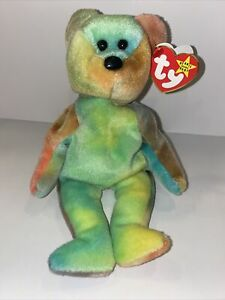 Garcia Beanie Baby w/ Many Errors ***Rare Find** Case Included