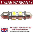1X WHITE CANBUS NUMBER PLATE INTERIOR BRIGHT SMD LED BULB 30 36 39 42 44MM OD