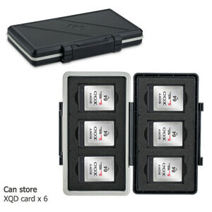 Memory Card Case Storage Holder fit 6 XQD Cards for Nikon Z7 Z6 D850 D500 D5 D4S