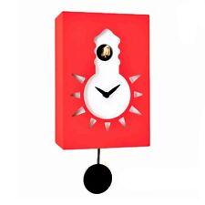Orologio a cucù con pendolo. Moderno, Pirondini Design, Rosso, Night & Day