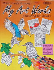 MY ART WORKS __ BRAND NEW  COLOURING BOOK FOR ADULTS __ ISSUE 3 __ BRAND NEW
