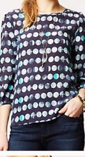 ANthropologie Hd In Paris Moon Phases Blouse S Euc