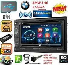 BMW E46 BLUETOOTH DVD USB Double Din Car Stereo Radio Dash Kit OPTIONAL SIRIUSXM
