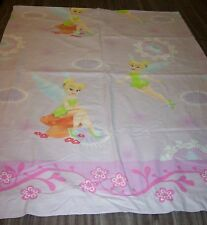 Walt Disney TINKERBELL FAIRY TINK FLAT Twin Size Bed Sheet FABRIC
