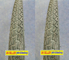 "PAIR of 26"" road tyres and tubes for mountain bike presta valve 26 x 1.50"