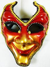 Toda la cara Oro Rojo Máscara Masquerade Fancy Dress