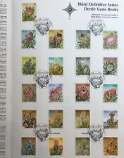 SOUTH AFRICA 1977 SUCCULENTS 3RD DEFINITIVE SERIES COMP SET ON PRESENTATION CARD