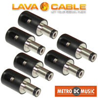 6-Pack Lava Cable Tightrope DC Right-Angle Pedal Power Plug Connector Solderless