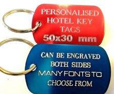 Engraved Aluminium Luggage Tag - Suitcase Travel Name Address ID Baggage Labels