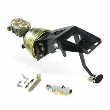 53-56 Ford Truck FW 7 Dual Brake Pedal kit Drum/DrumSm Oval Chr Pad rat rod