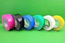 48mm x 50m Duct Gaffa Waterproof Cloth Tape White/Black/Green/Yellow/Pink/Blue