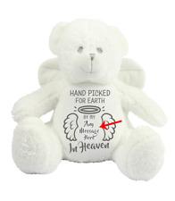 Personalised Memorial Keepsake Angel Teddy Bear Add Own Message Auntie Uncle Nan