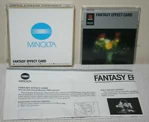 Minolta Fantasy Effect Card For Dynax / Maxxum 7000 35mm Cameras & Instructions