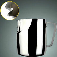 Twin Spout Frothing Milk Pitcher Coffee Latte Jug Espresso Stainless Steel Craft