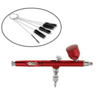 0.3mm Gravity Feed Dual Action Airbrush Paint Spray Gun + 5pcs Clean Brushes