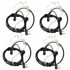 4-pack HQRP Auriculares Ptt Throat Mic para Kenwood Protalk Xls Freetalk Radio