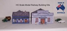 HO Scale Old Style Bank & Residence Model Railway Building Kit - CBAH1