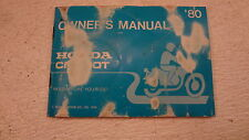 1980 Honda CM500T CM 500 Twin H792 owners manual