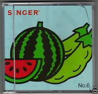 Singer XL-100, 150 or 1000 Embroidery Card #6, Fruits and Vegetables