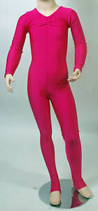 Lycra Catsuit Long Sleeve Gath'd Bust - Ballet Colours (#HEATHER)