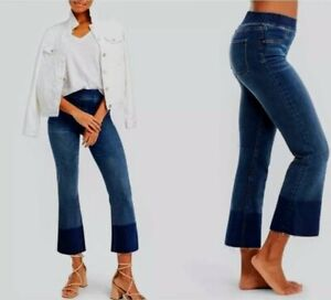 Spanx Cropped Flare Jeans Jegging Sara Blakely Jeggings Pull On Medium