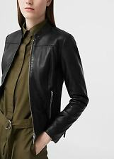 Ladies lovely real leather  jacket new mango MNG L UK 12 ,.,