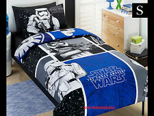 SINGLE BED STAR WARS KIDS Storm TROOP LICENSED QUILT DOONA COVER SET 1PILLOWCASE