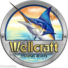 Single Round Wellcraft Boat Decal for Restoration Project