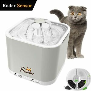 Razor Sensing Cat Drinking Water Fountain Pet Dog Electric Automatic Bowl Filter