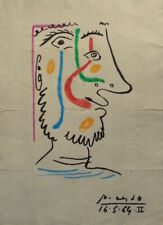 PABLO PICASSO INK DRAWING  ON PAPER - SIGNED -/--- // // --------