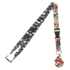 Nintendo Super Mario Characters Lanyard with ID Holder & Charm New