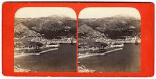 Photo stéréo Villefranche sur Mer vers 1880 Côte d'Azur albumen
