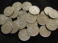 Israel 5 New  Agorot 1980  CH BU lot of 25 BU coins