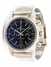 Breitling Transocean Chronograph 38 Steel Black Dial Watch A4131012/BC06