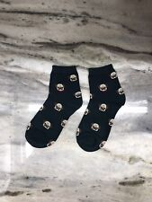Dark Green Cute Pug Socks - One Size - USA SHIPPING