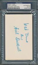 Ariel & Will Durant Index Card PSA/DNA Certified Authentic Auto Autograph *7399
