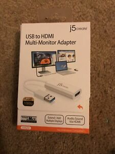 J5 Create JUA254 USB To HDMI & USB Multi-Monitor Adapter