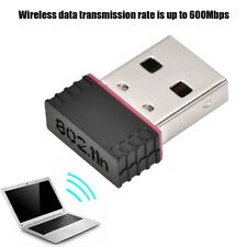600Mbps 2.4GHz Wireless Lan USB2.0 WiFi Adapter Dongle 802.11n/g/b For Laptop PC