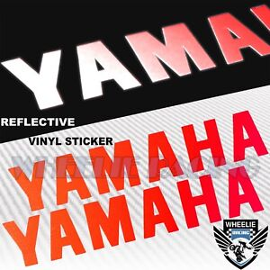"""PAIR 8"""" FENDER FUEL GAS TANK STICKER REFLECTIVE LOGO VINYL DECAL FOR YAMAHA RED"""