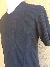 Men's Guess Shirt XL Mens Gray Polyester-Rayon Blend Crew Neck  B93