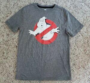 NWT Old Navy Boys Gray Short Sleeve Ghostbusters Shirt Sz L 10-12