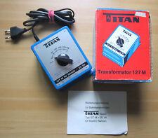TITAN TRAFO 127 M Transformator für Märklin Modellbahnen Transformer Regler OVP