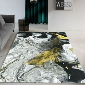 Marble Carpet Living Room Coffee Table Rug Landscape Bedroom Carpet Flannel Mat