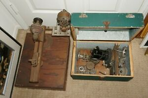 + VNTG Mini Wood / Metal Lathe w/Accessories and Western Electric Sewing Motor