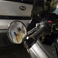 """BLACK MOTORCYCLE 7/8"""" BAR END REARVIEW MIRROR FOR CRUISER SPORTS BIKE CAFE RACER"""