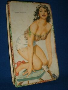 Vintage DAMSEL IN DISTRESS Naughty CHOCOLATE / SWEET BOX See Through Top