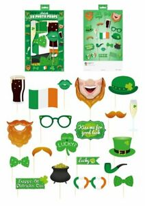 St Patrick's Day Decoration Accessories & Costume (20Pcs)-Lucky Four Leaf Clover