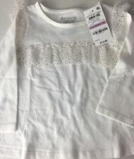 First Impressions Girls Top 6-9 Months NEW L/S Frills Gold Accents Christmas