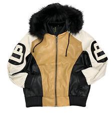 Men's Robert Phillipe Wheat 8 Ball Jacket with Fur Hood