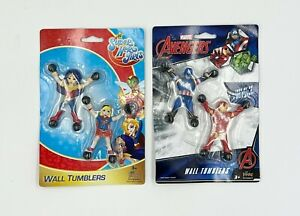 DC Super Hero Girls & Marvel Avengers Wall Tumblers RARE